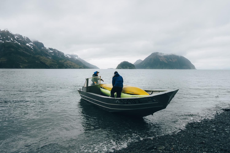 Kayaking and camping on the Kenai Peninsula