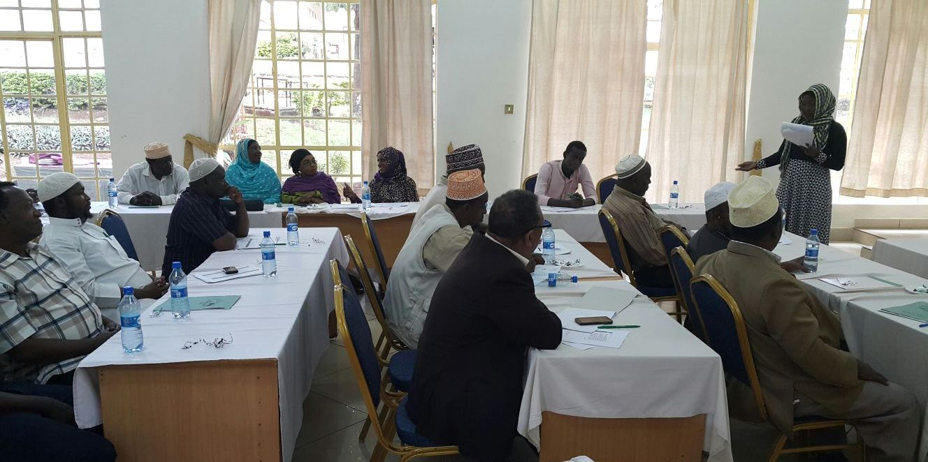 Sophia Khamis speaking at a recent workshop on Youth Radicalization, held in Embu.