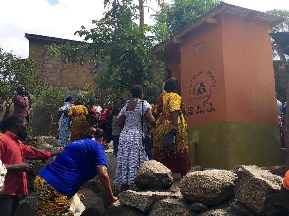 A biofill sanitation project in Mwanza