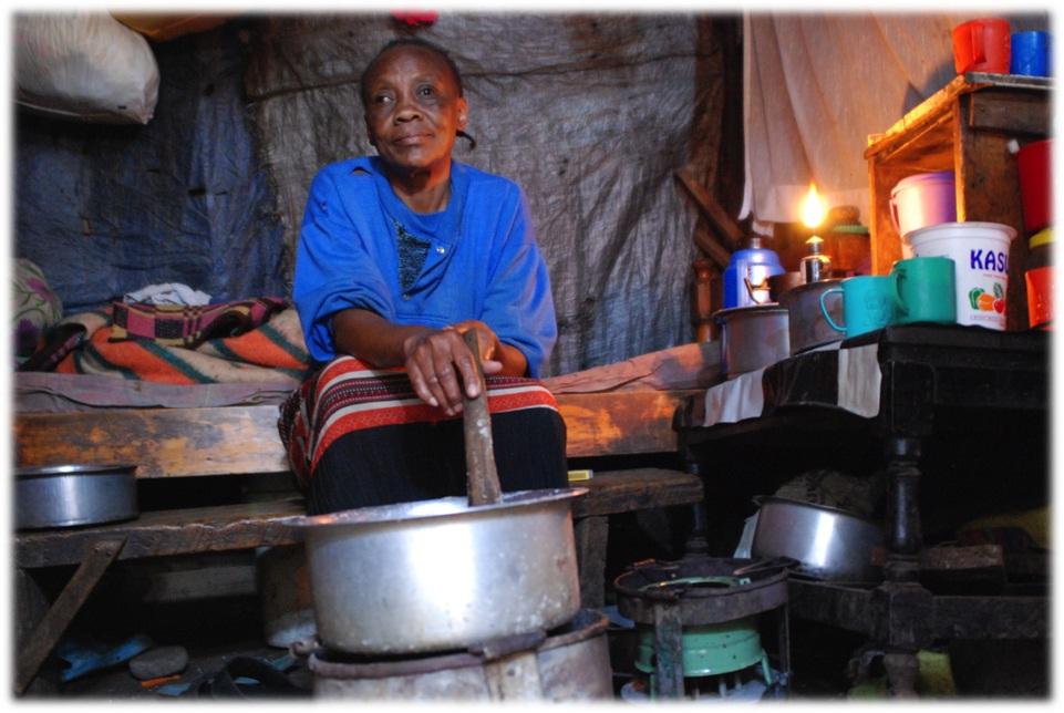 an examble 10 by 10 shack in Mukuru slums