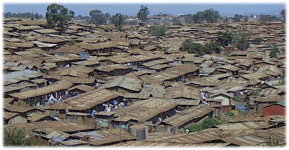 Ariel view of Kibera Slums