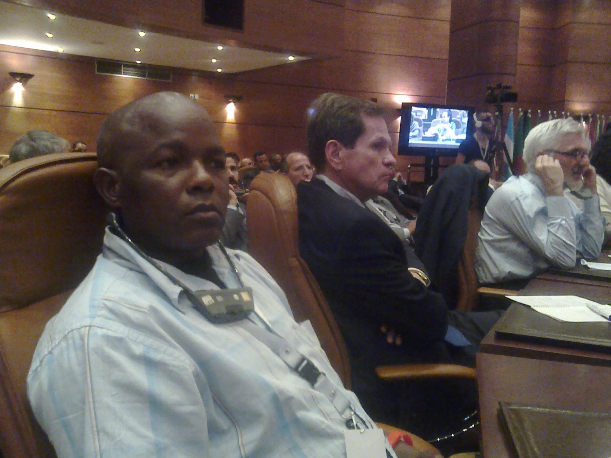 The writer; Joseph Kimani at the Rabat Conference