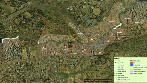 Map of Mathare Valley Settlement