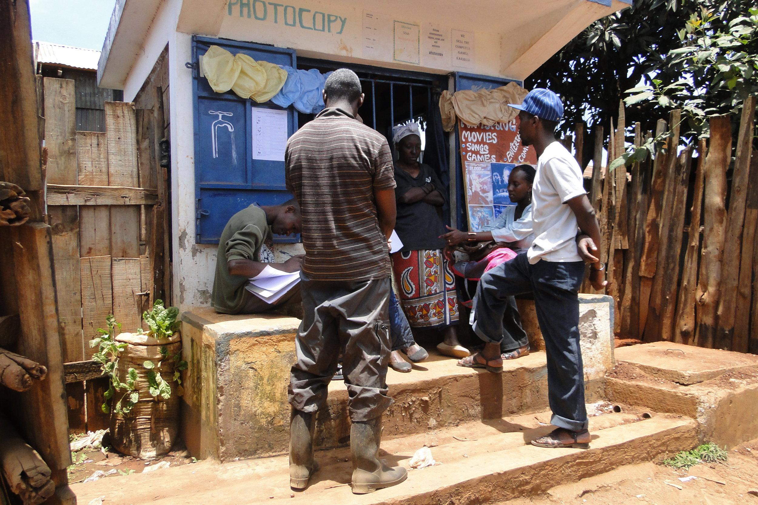 Community profiling in progress in Dagorretti settlement.