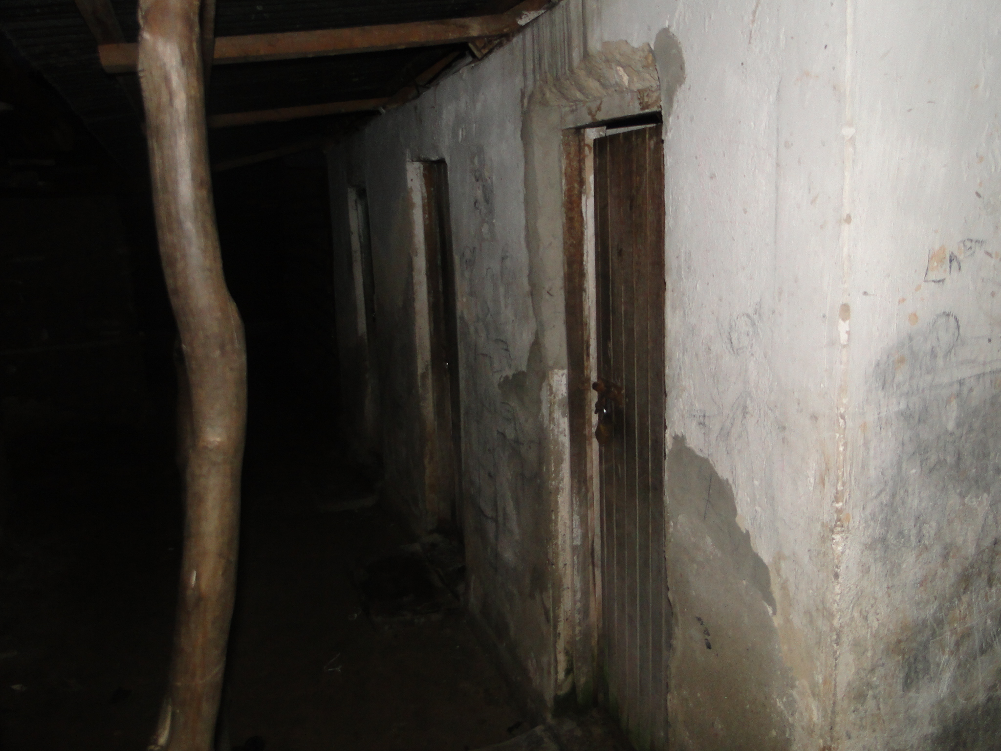 The only existing sanitation facility in the settlement