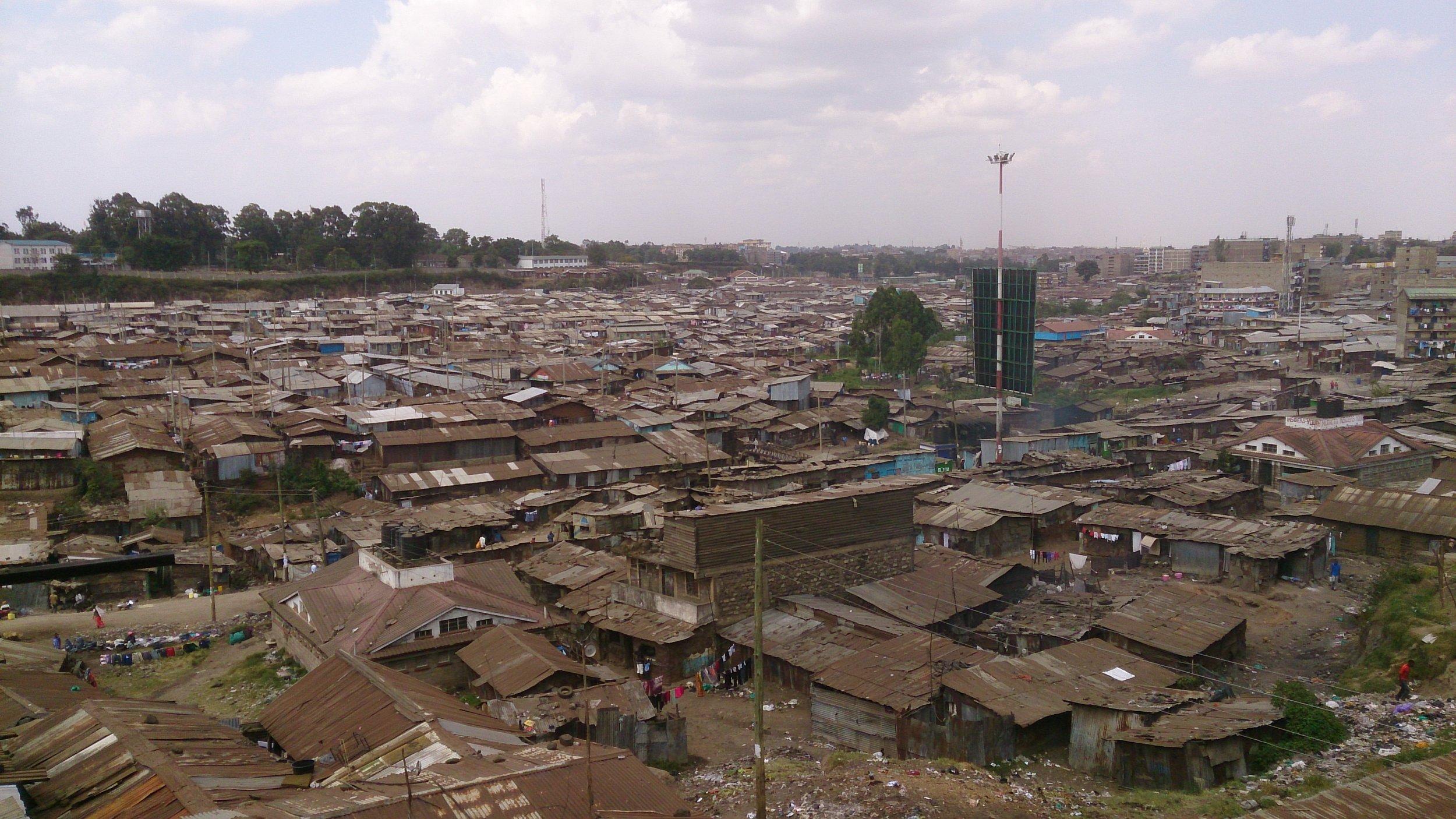 Mathare settlement Aerial view