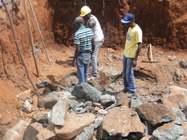 Site 1: Foundation for the Bio centre model in Biashara Village