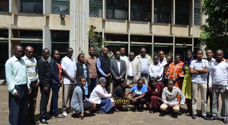 Kiandutu Community attend a studio session at the School of the Built Environment, University of Nairobi(Source CURI)