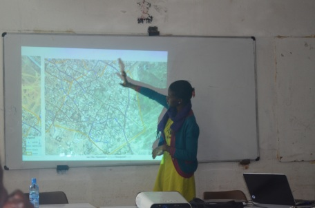 UON student Presenting some of the findings