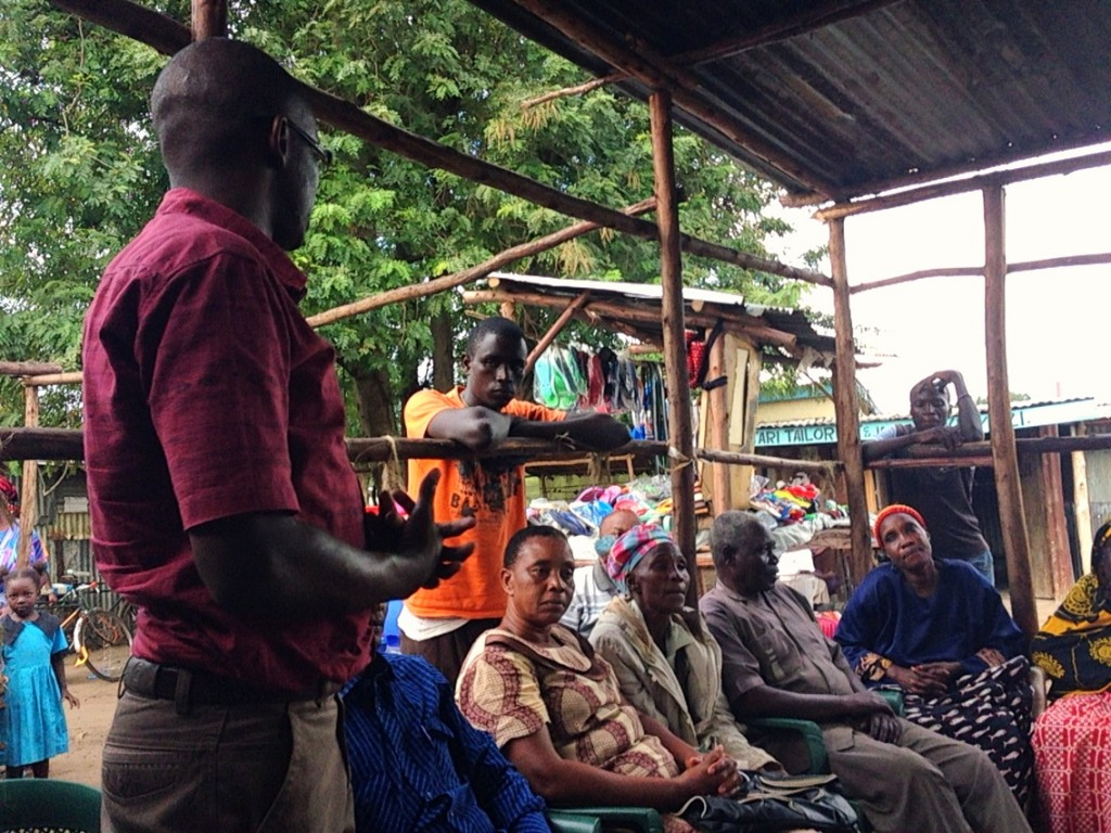 Erickson Sunday, Federation Leaders in a discussion with the Kibos Community