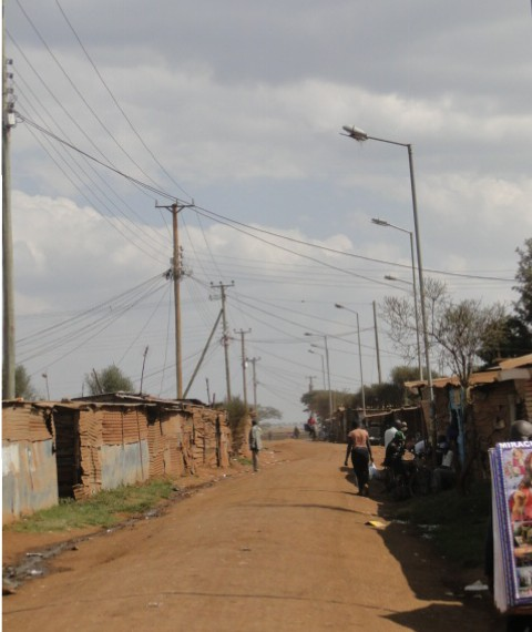 Mtatu B, one of the clusters in Kiandutu Informal settlement.