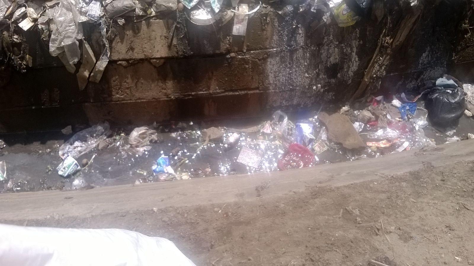 Blocked Trenches, in Mathare. Photo Credits Katlyn Wanjiru
