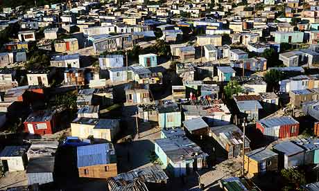 Khayelitsha township in Cape Town, one of South Africa's largest and fastest growing informal settlements. Photograph: Per-Anders Pettersson/Getty Images