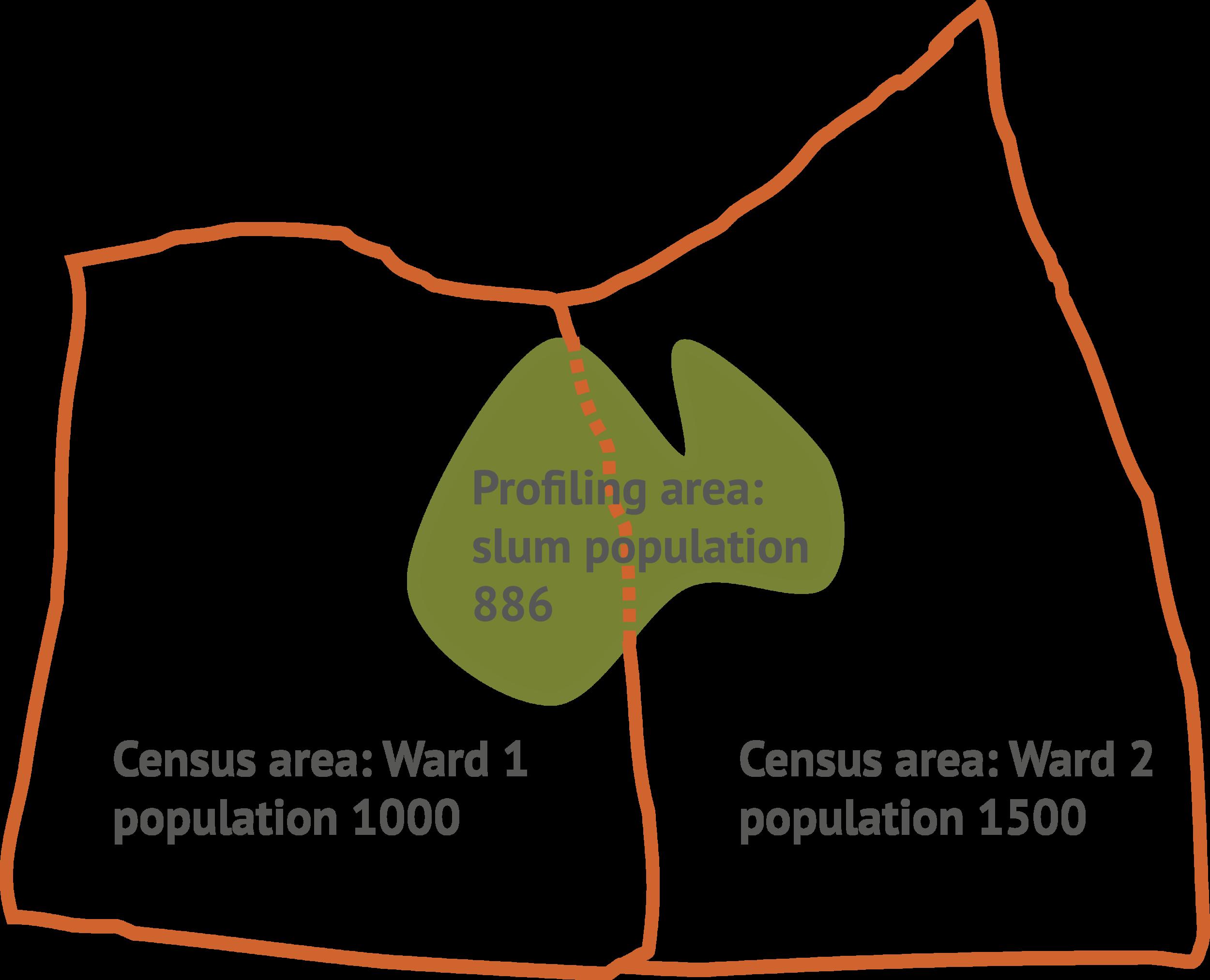 Relationship between a census & informal settlement profiling