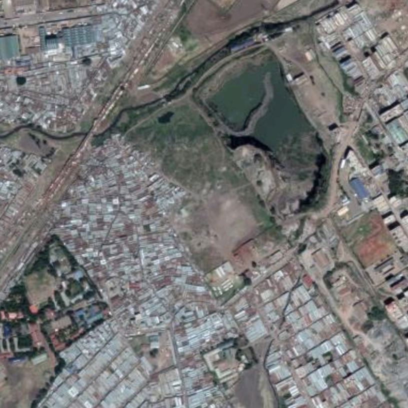 Mukuru sisal village (centre left). Source: Google maps