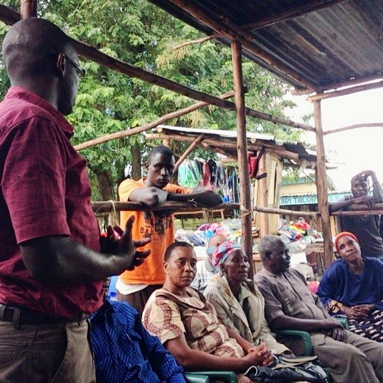Kisumu settlement meeting