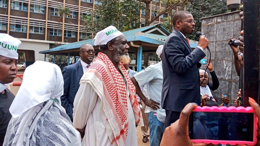 Nairobi County Housing Secretary Patrick Bucha (Emily is on the far left).
