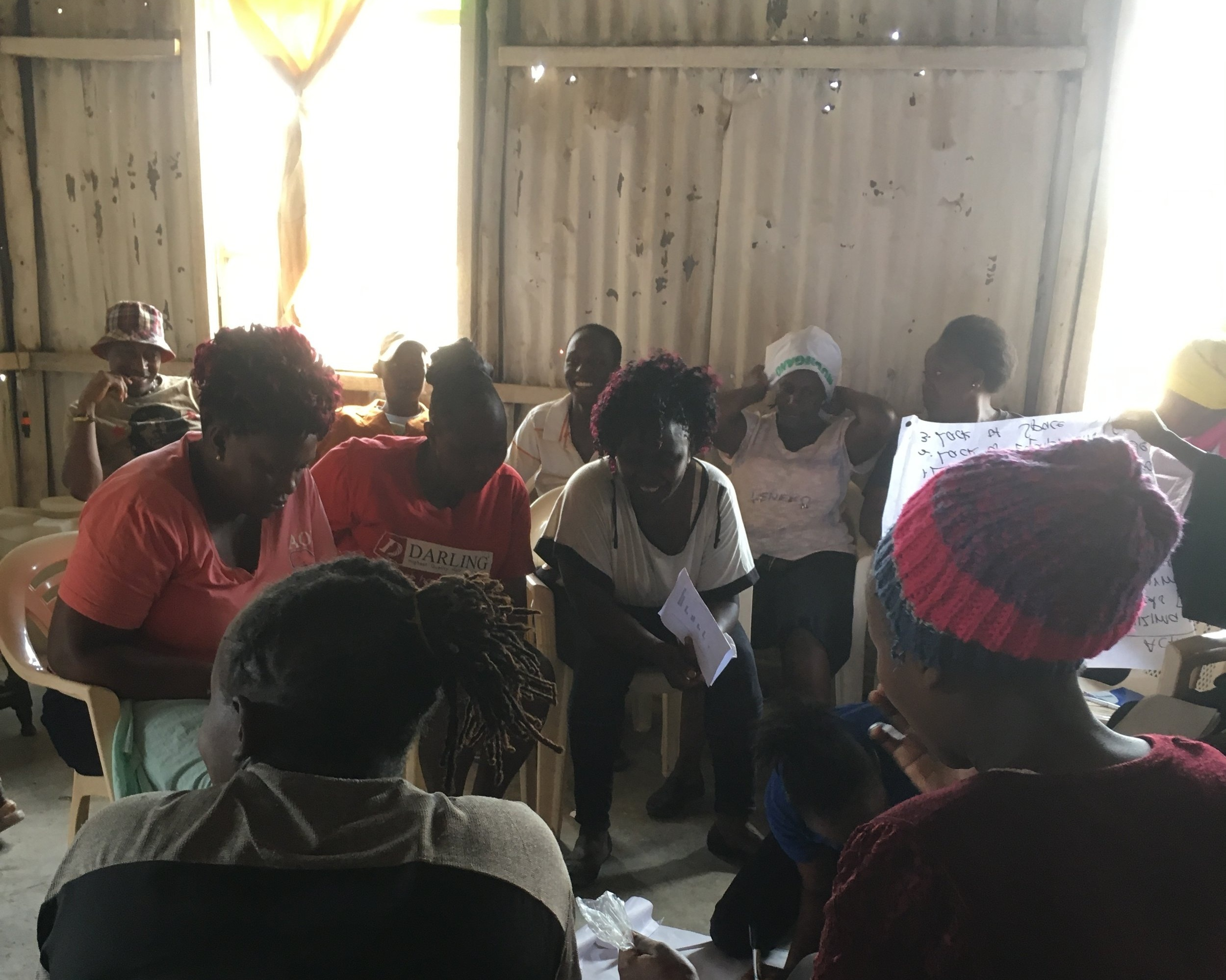A VFL meeting in Mukuru. Photo: Kate Lines