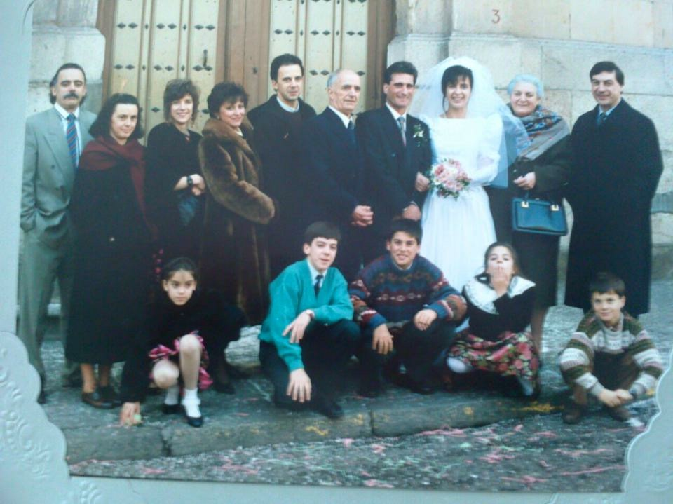 That's our family! Circa 1994 in Spain! Check out Amanda front row first on the left!