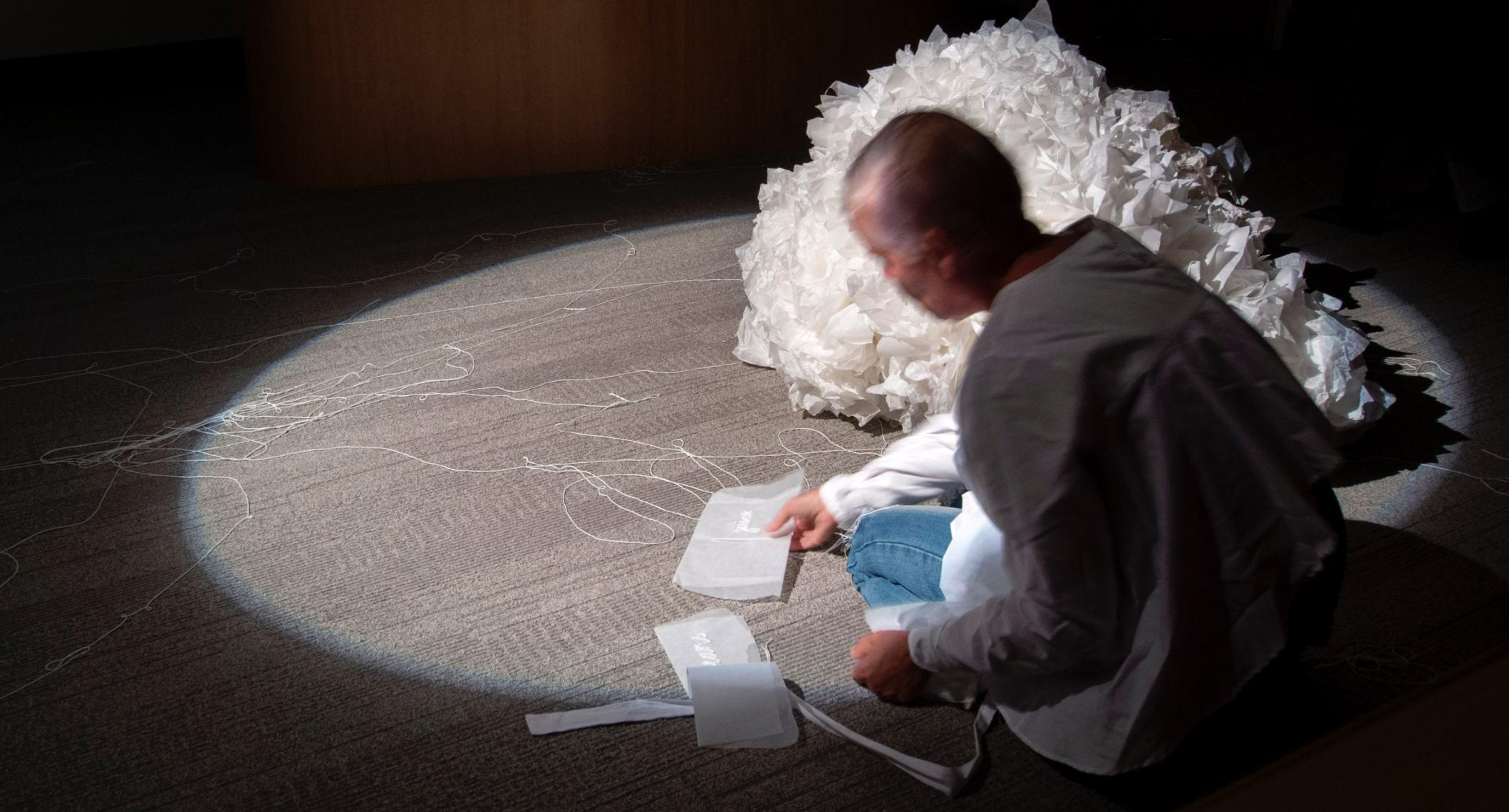 Julie Barratt & Virginia Barratt;  The exquisite fold, the immanent word (performance)