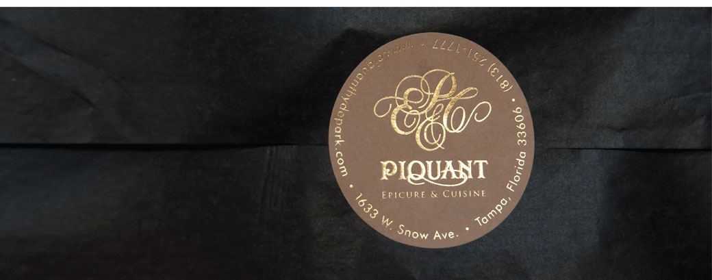 Piquant Carry -Out Bag Sticker