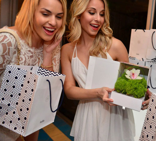 Girls at Kalla Launch Party with Party Favors