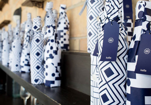 Kalla Wine Packaging at Launch Party