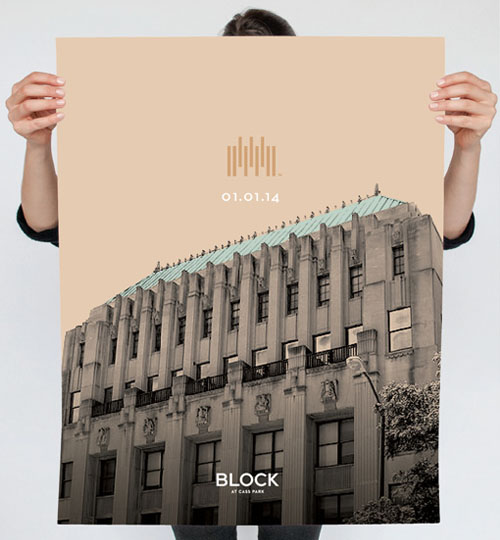 The Block launch poster
