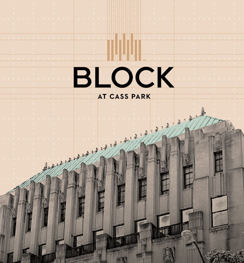 The Block Identity over an Image of the Building
