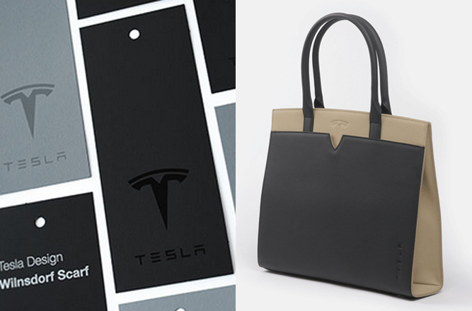 2014 Holiday Gift Guide Tesla Tags and Tesla Leather Black and Tan Purse