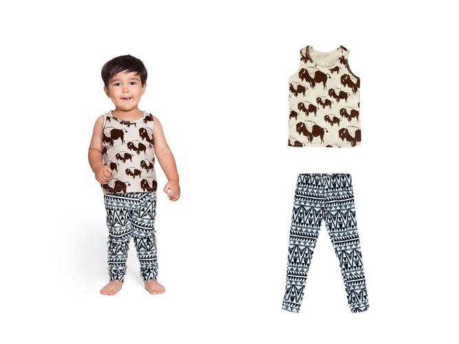 Izzy & Ferd Clothing on a little boy