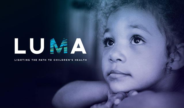 LUMA Benefit Concert Logo with Little Girl