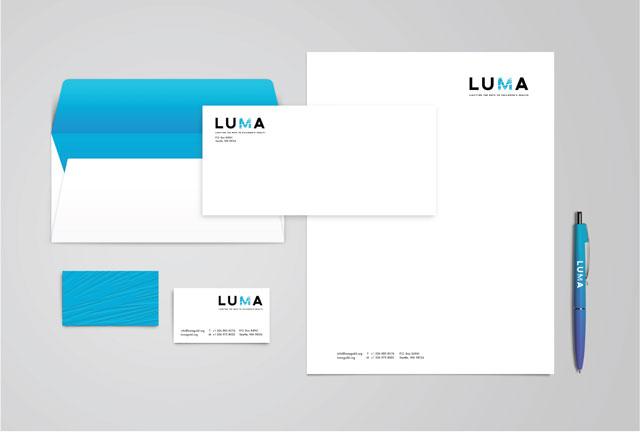 LUMA Business Cards, Letterhead and Envelopes
