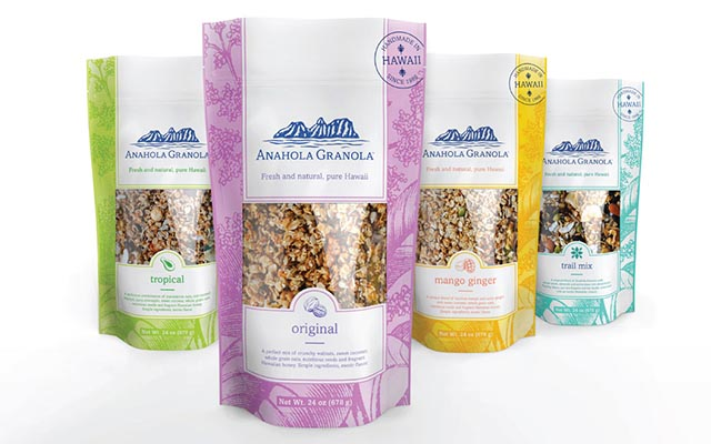 Anahola Granola Packaging