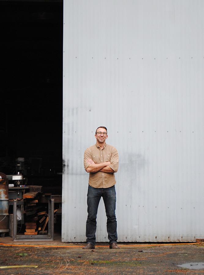 Brackish Designs Andy Whitcomb outside of studio