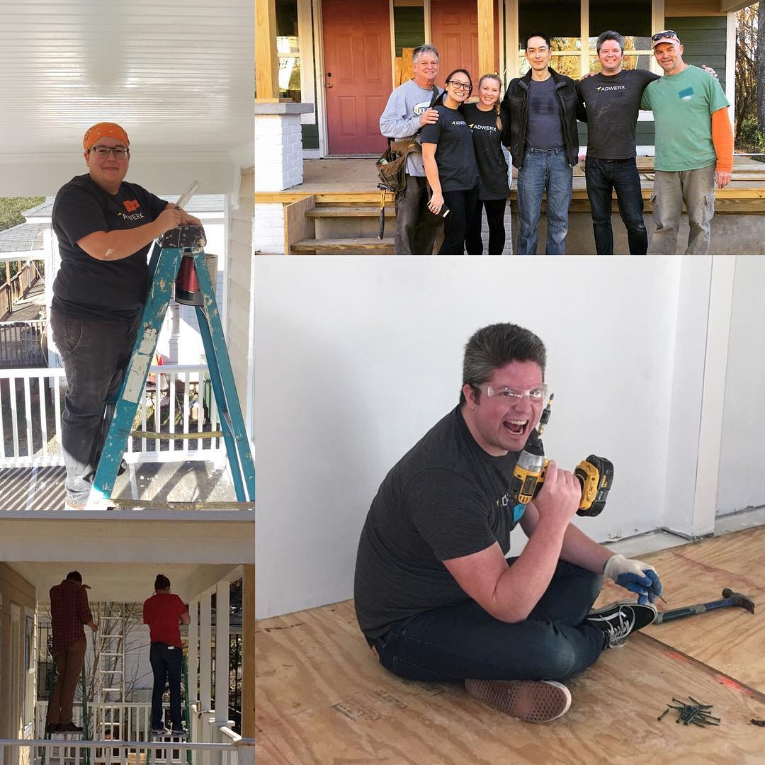 Adwerx assists at a Habitat for Humanity build in Durham, NC