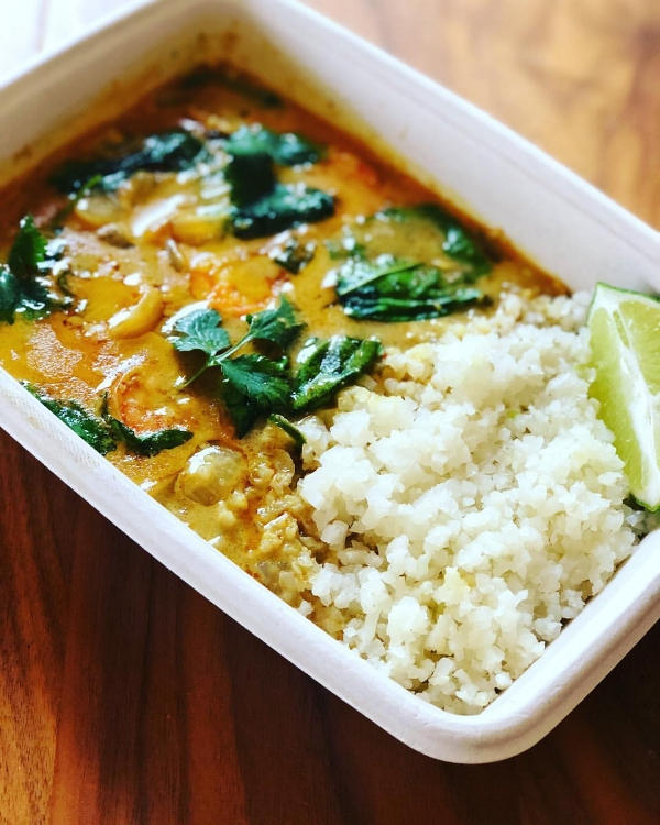 Fiery Indian Curry with Cauliflower Rice
