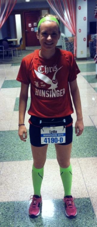Before my first marathon.