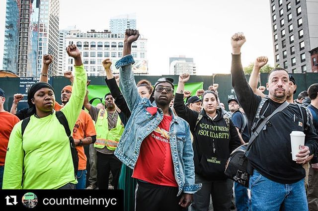 Where will YOU be tomorrow when all your brothers and sisters rally in Union Square to keep NYC a union town? See you tomorrow at 3:30! #countmein #counttradeswomenin
