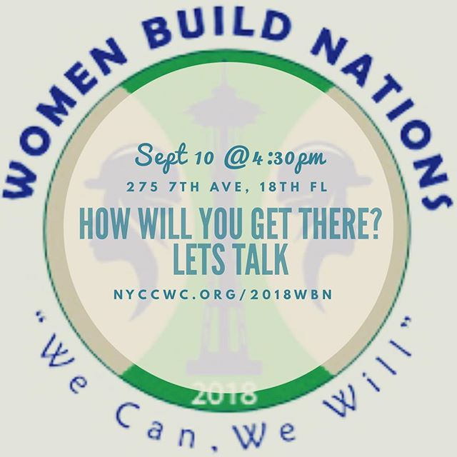 Thanks to generous support from @tools_n_tiaras, we have funding to send tradeswomen to the 2018 Women Build Nations Conference in Seattle this year! Get your application in today or pick one up at our monthly meeting Monday, Sept 10th @4:30. 275 7th Avenue, 18th Floor. Womenbuildnations.org