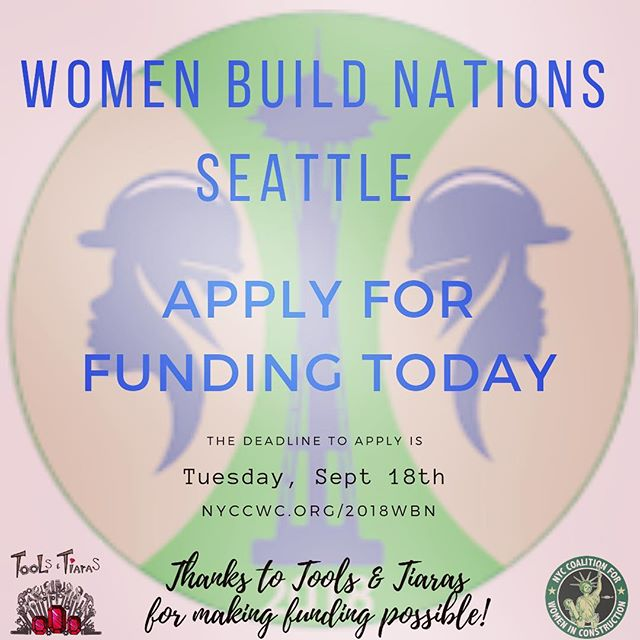 If you haven't applied for a scholarship yet, do it today. Tuesday is the last date to apply. Grants will be announced on the 24th. Link to apply in bio. All NYC tradeswomen are encouraged to apply!