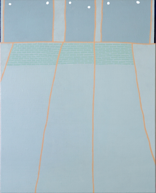 Wooden Deck, acrylic on canvas, 30x24, 2016