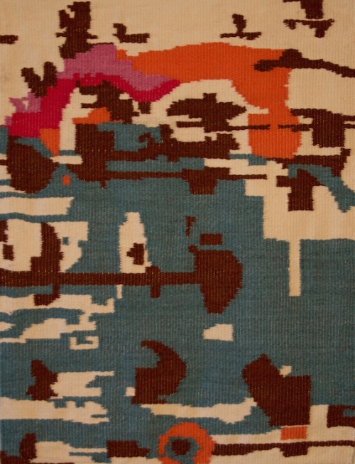 Patterned Sea, wool weaving, 36x27, 2015
