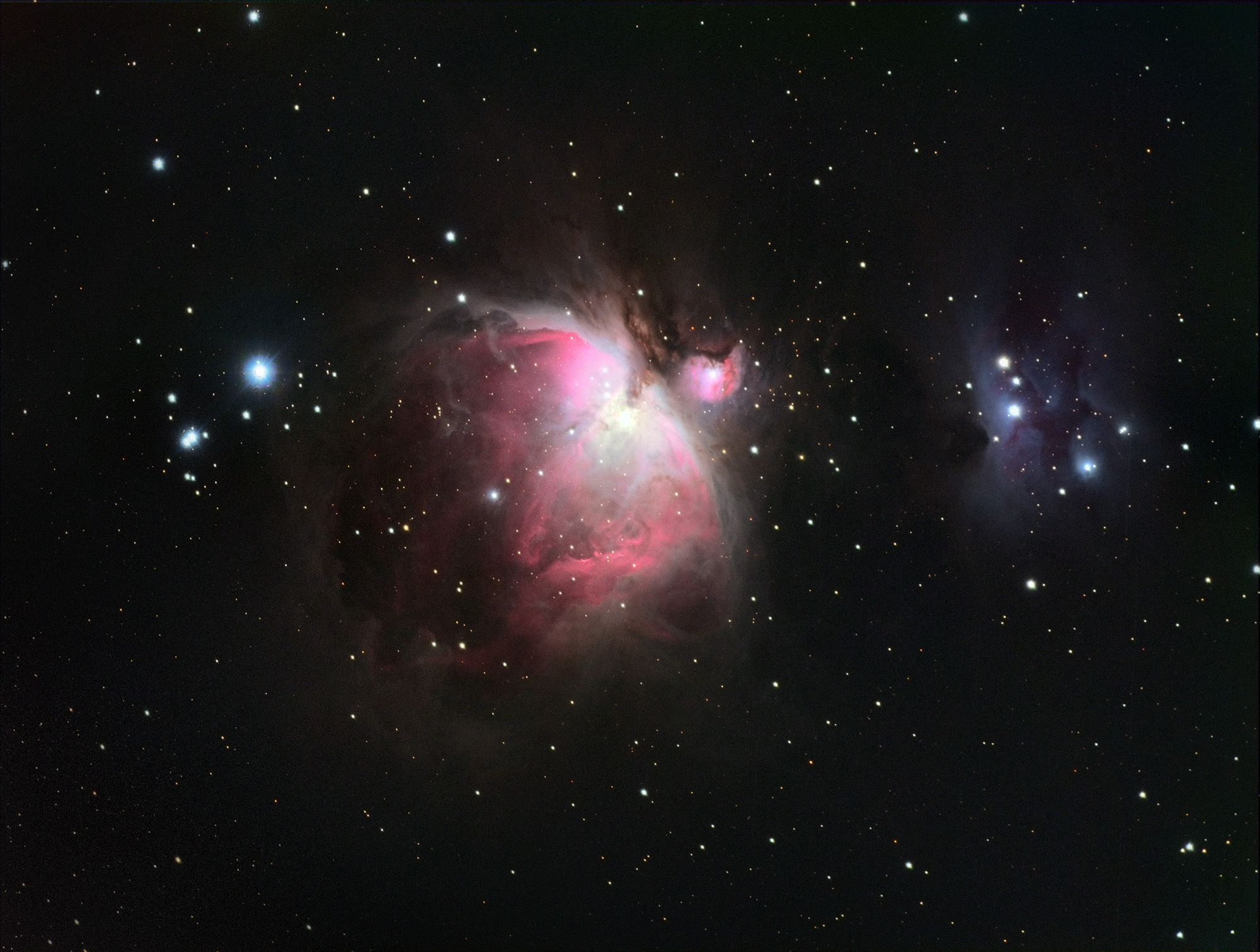 M42 (Orion Nebula) shot in LRGB on my ES102mm ED telescope.