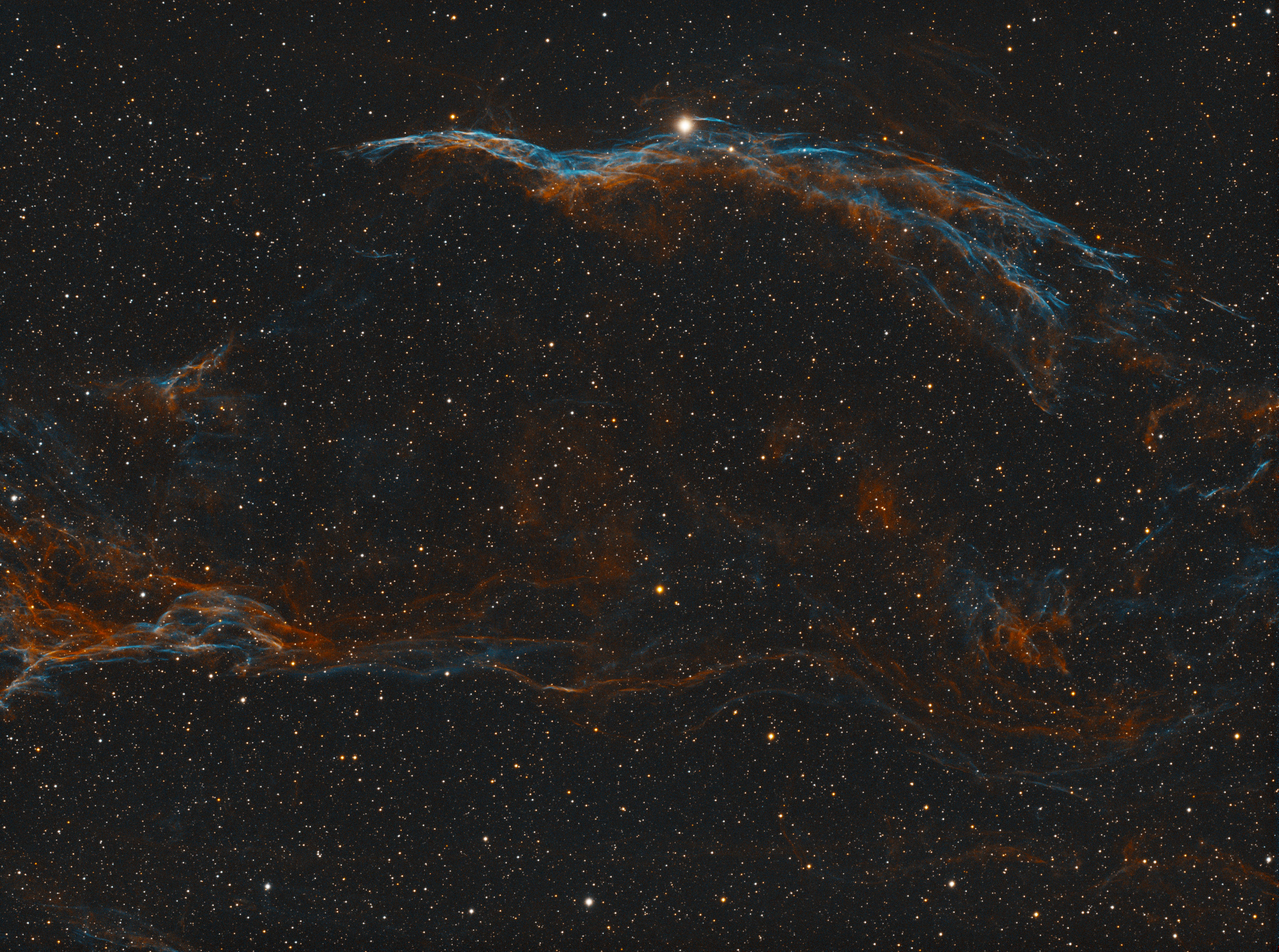 The final result of processing the Veil Nebula in Astro Pixel Processor on the Mac.