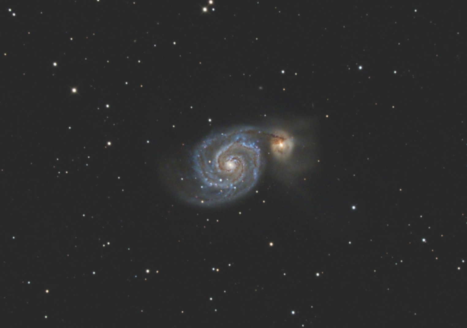 Cropped view of M51.