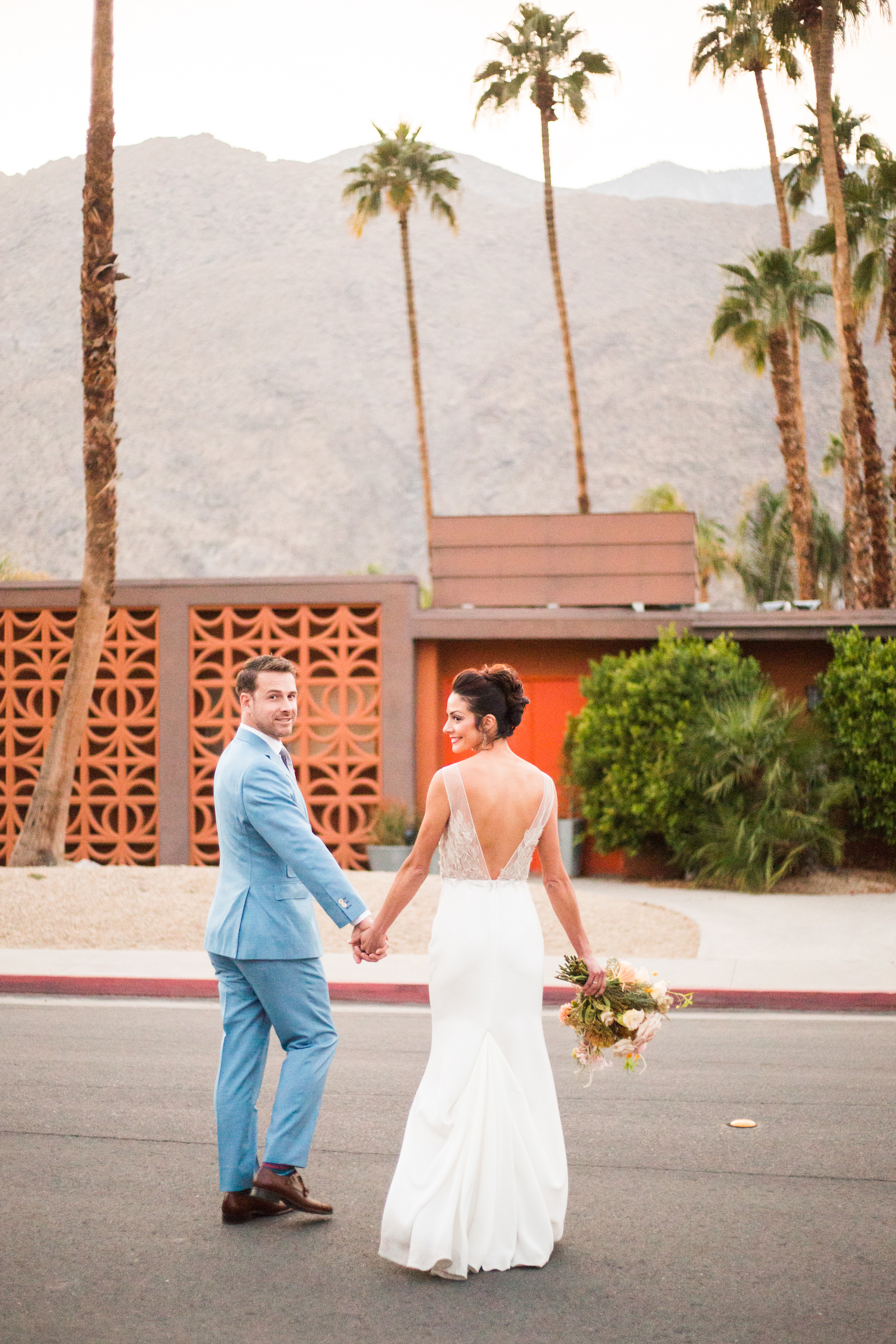 Bride and Groom portraits Ace Hotel and Swim