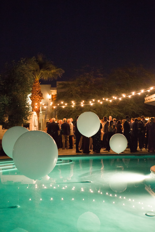 Wedding reception balloon decor