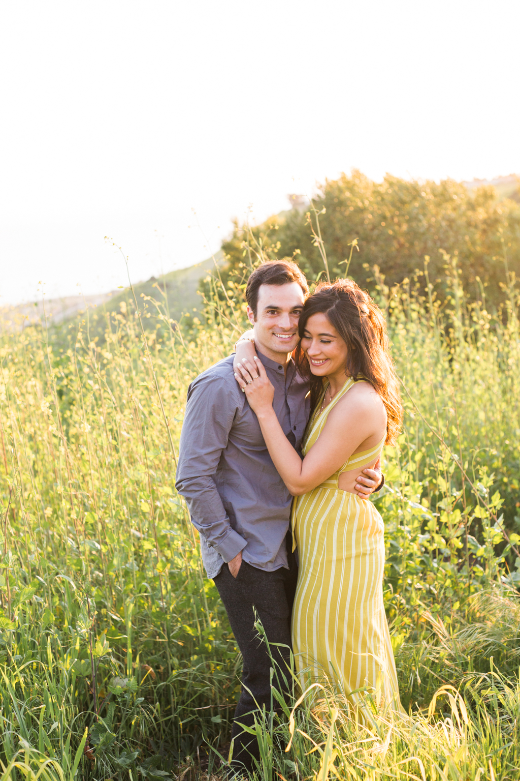California Spring Engagement session in mustard fields