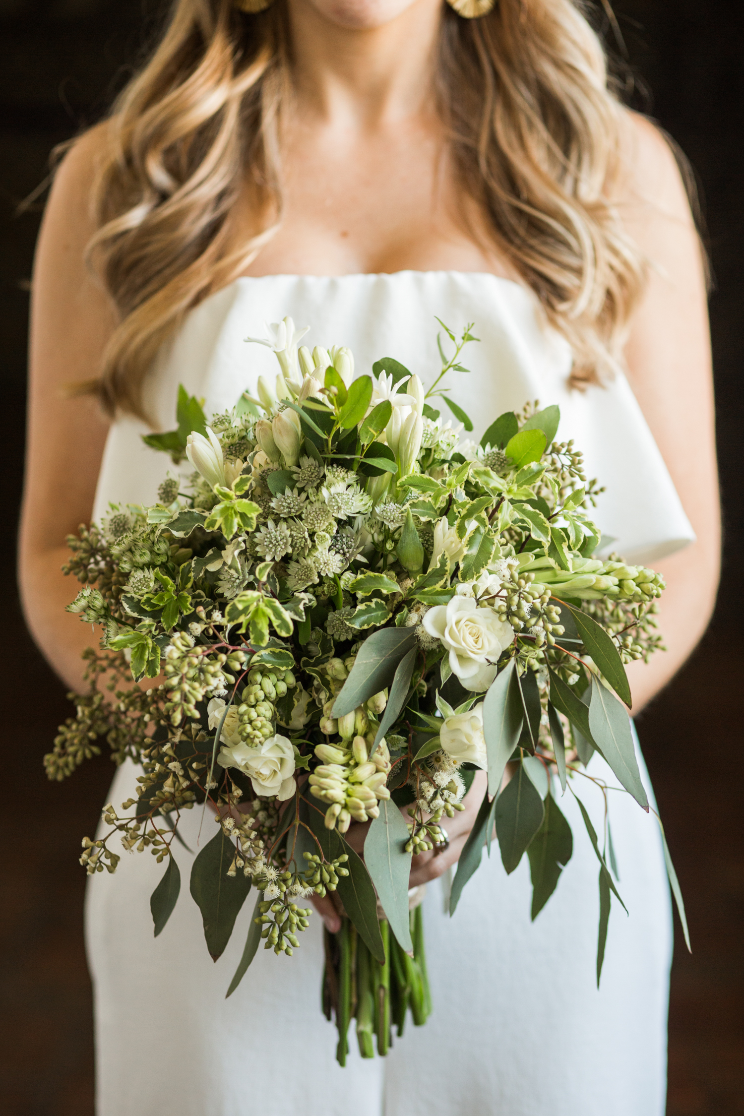 Classic Bridal Bouquet in Green and White